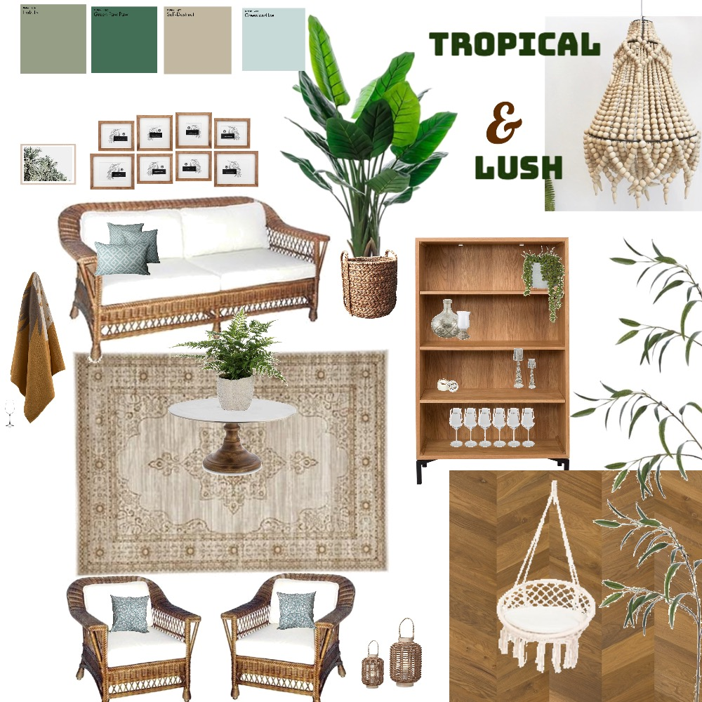 LUSH AND TROPICAL Interior Design Mood Board by mazzziie123 on Style Sourcebook