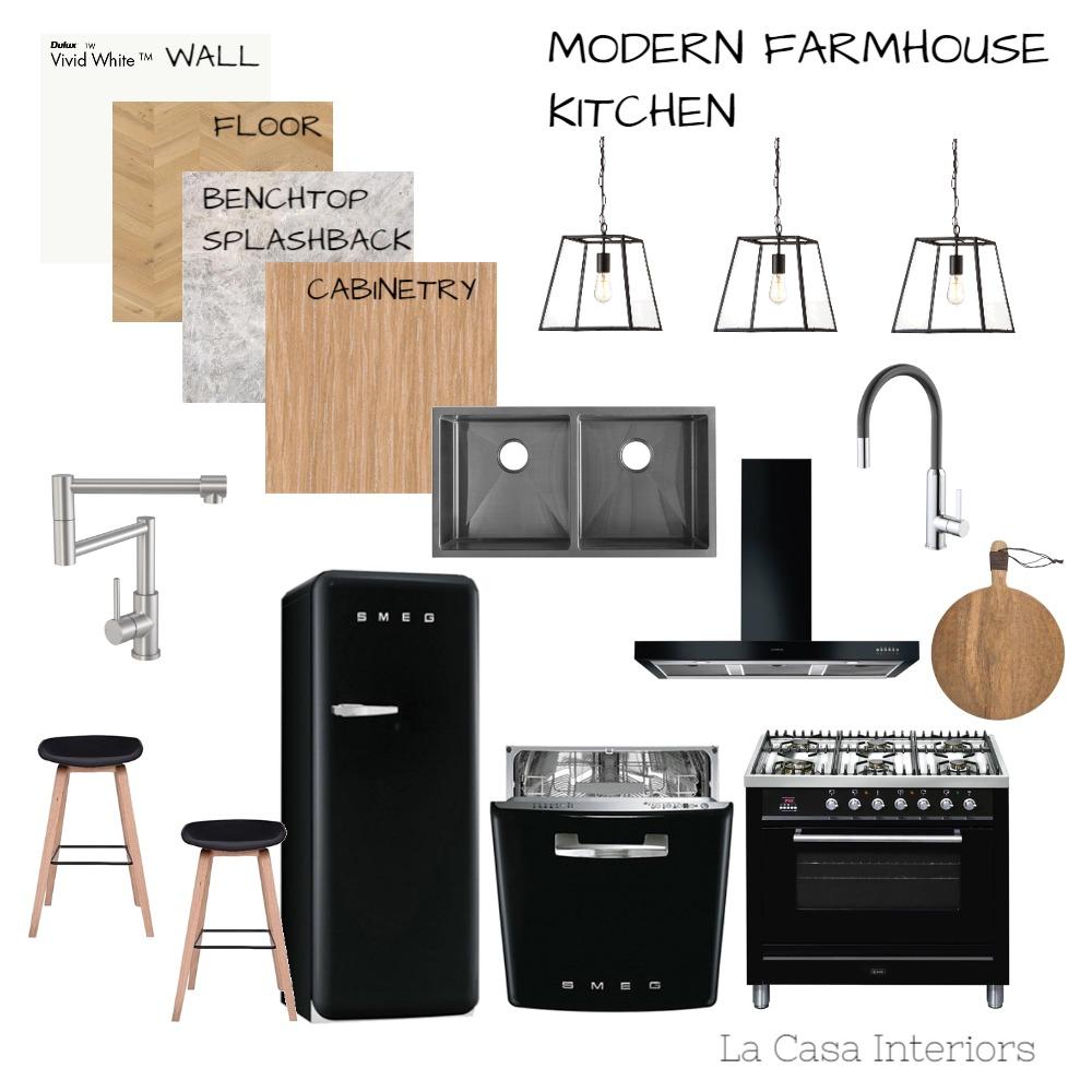 Modern Farmhouse Kitchen Interior Design Mood Board by Casa & Co Interiors on Style Sourcebook