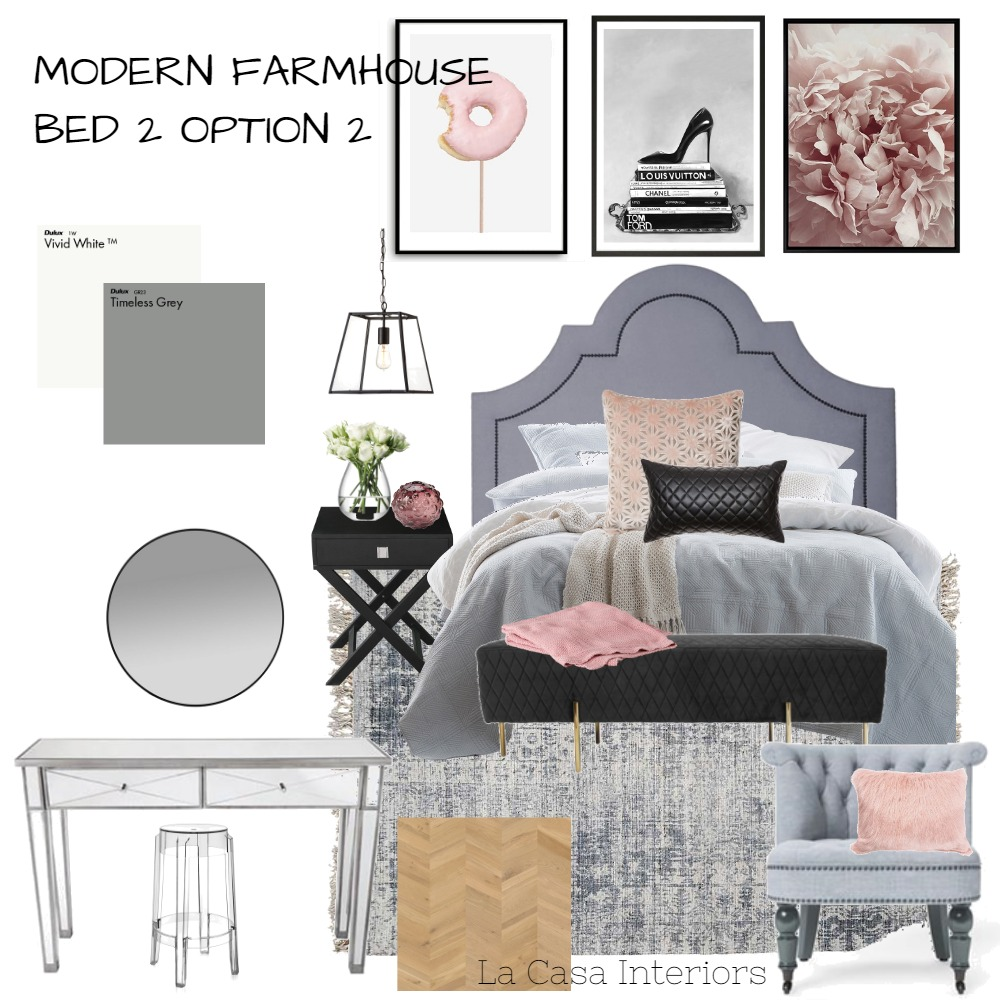 Farmhouse Bed 2 Option 2 Interior Design Mood Board by Casa & Co Interiors on Style Sourcebook