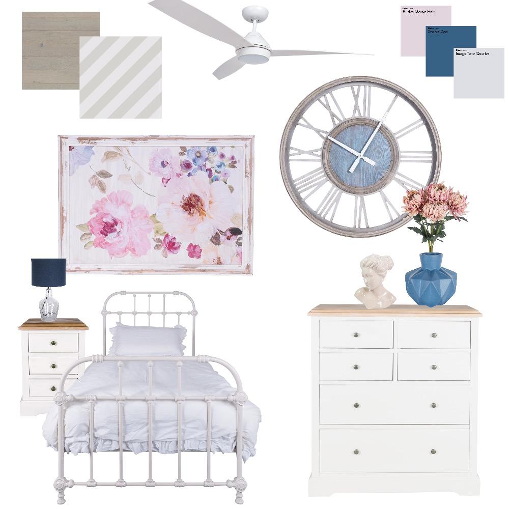 Hamptons bedroom Interior Design Mood Board by ebonflow on Style Sourcebook