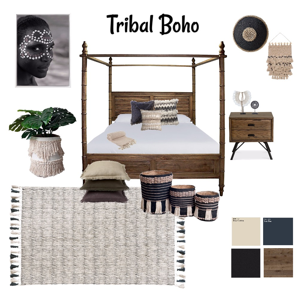 tribal boho Interior Design Mood Board by imogenmanning on Style Sourcebook