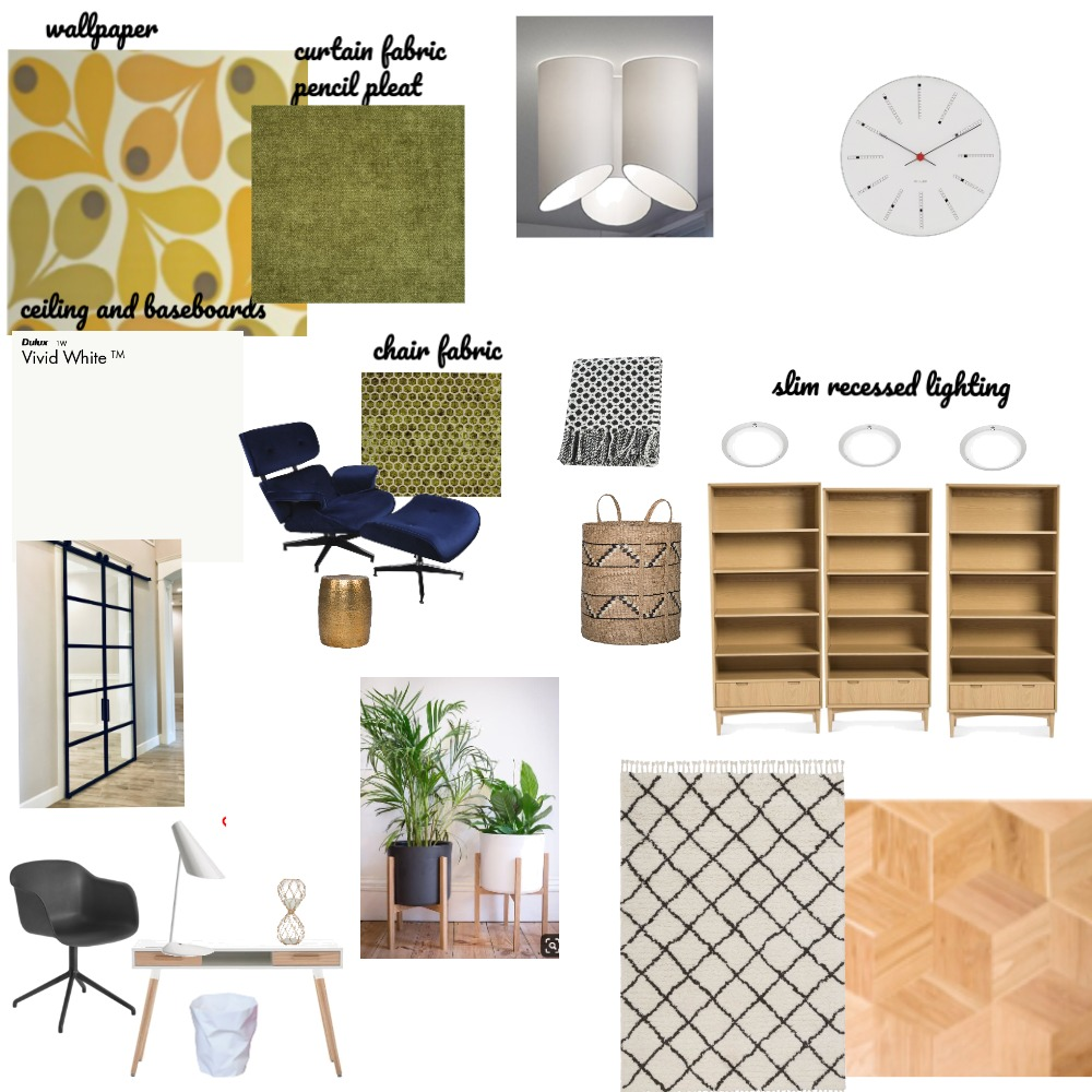 Library / Study Interior Design Mood Board by pmccallan0 on Style Sourcebook