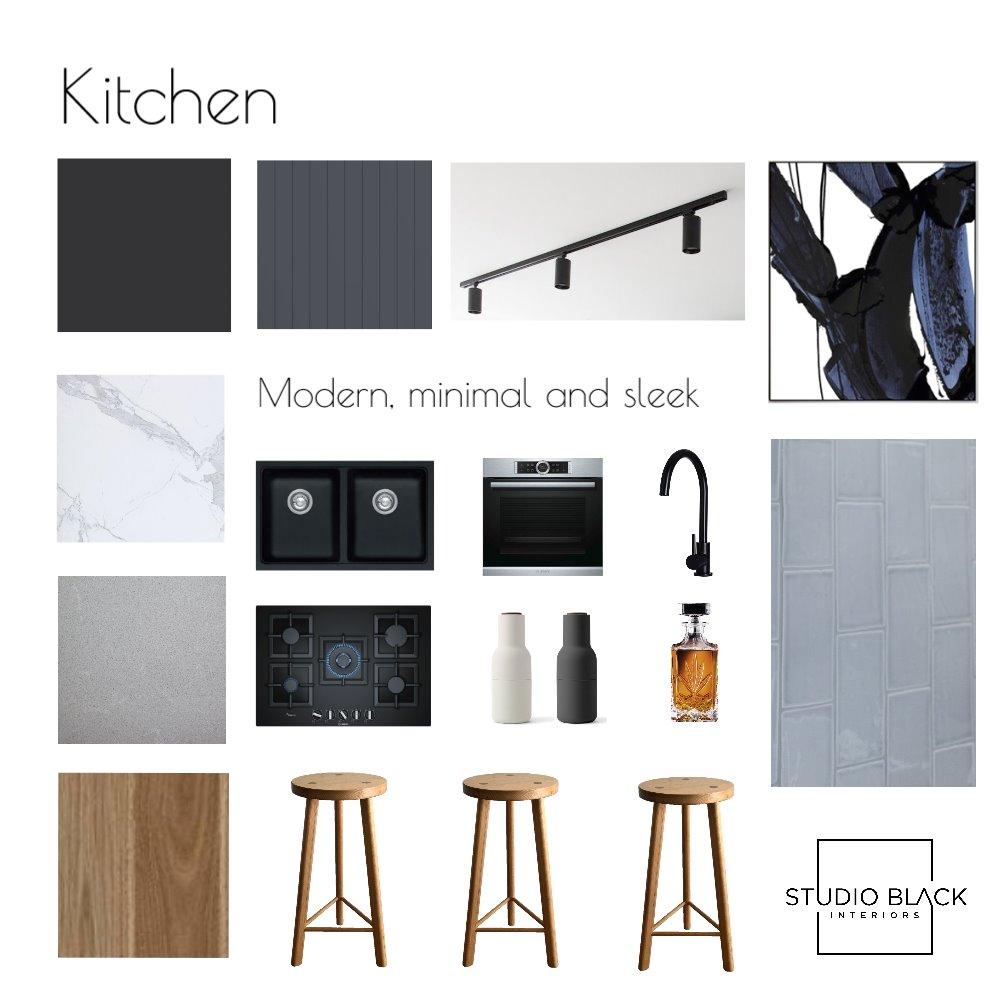 Kitchen - Modern, minimal and sleek Interior Design Mood Board by Studio Black Interiors on Style Sourcebook