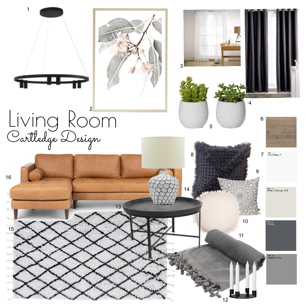 IDI- LIVING ROOM Interior Design Mood Board by rcartledge on Style Sourcebook