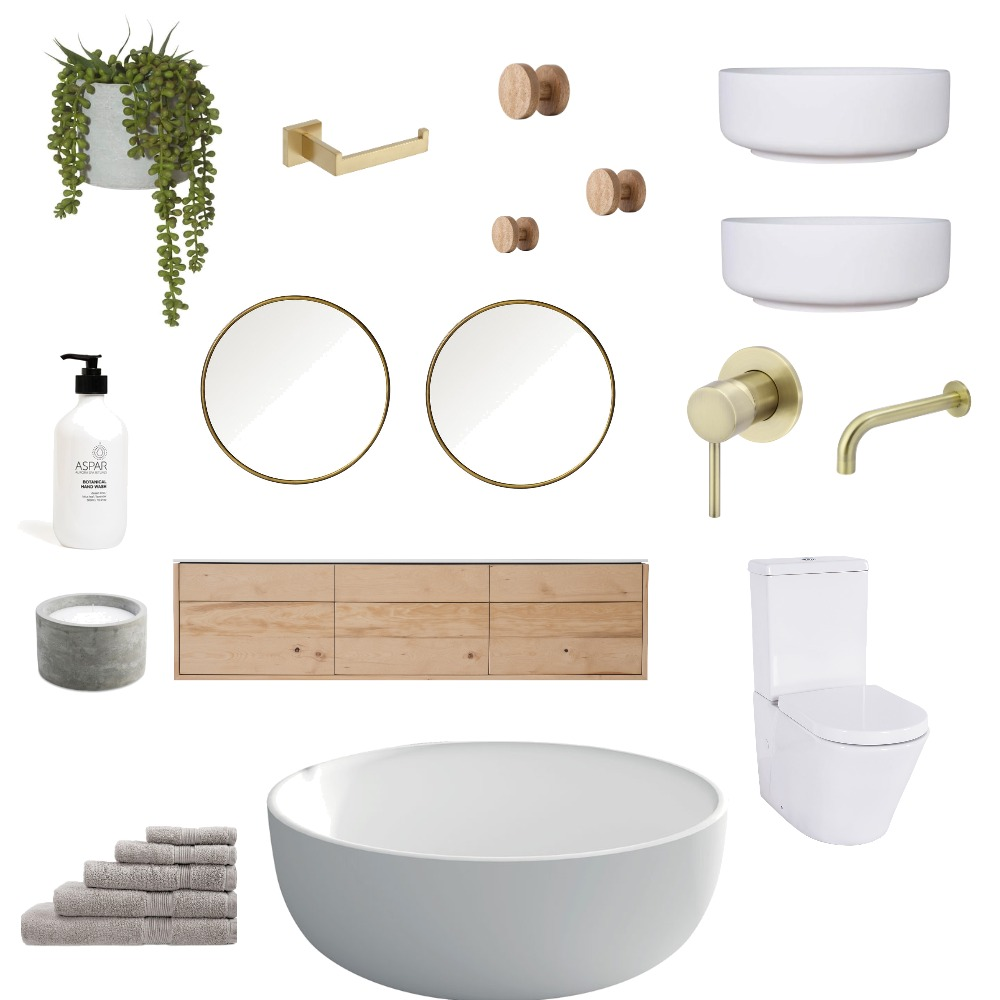 bathroom Interior Design Mood Board by Six Pieces Interior Design  Qualified Interior Designers, 3D and 2D Elevations on Style Sourcebook