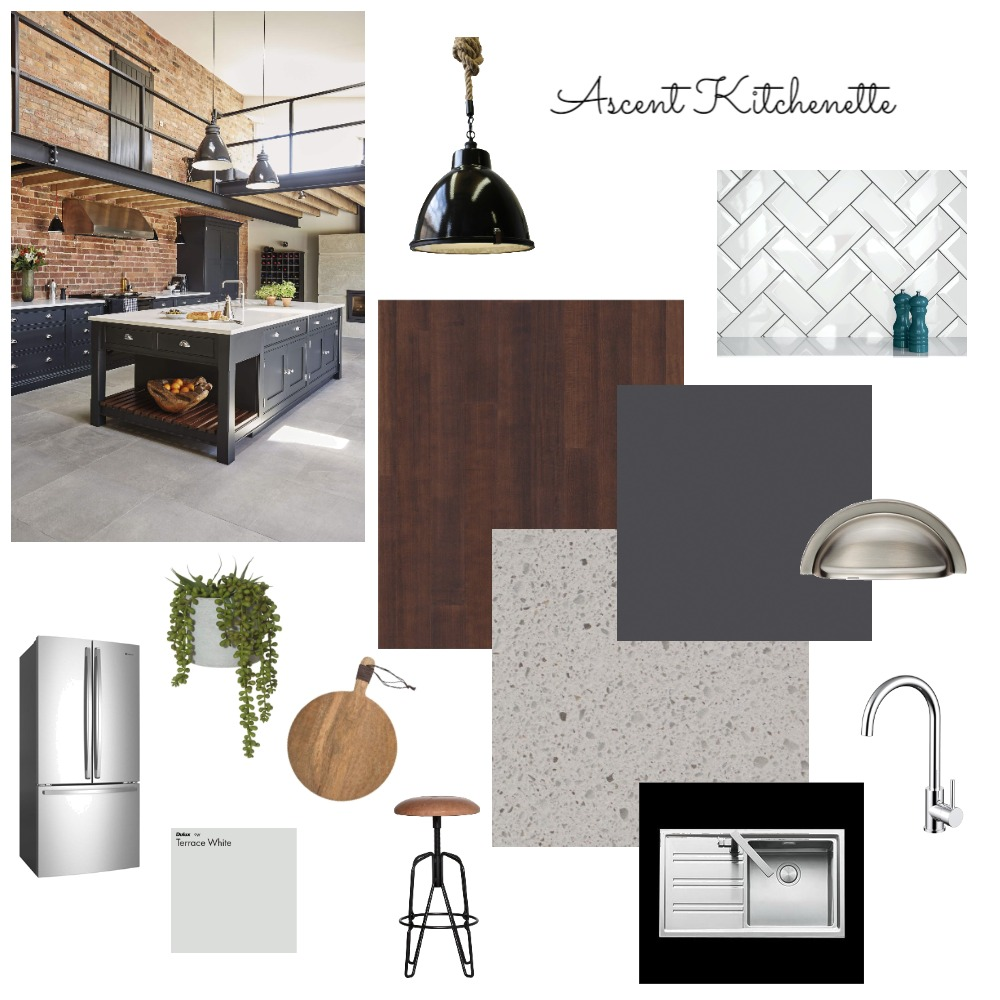 Ascent Kitchenette Interior Design Mood Board by VickiH on Style Sourcebook