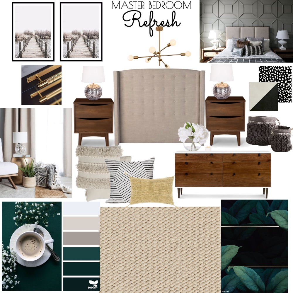 Master Bedroom Refresh Interior Design Mood Board by Thelifestyleloft on Style Sourcebook