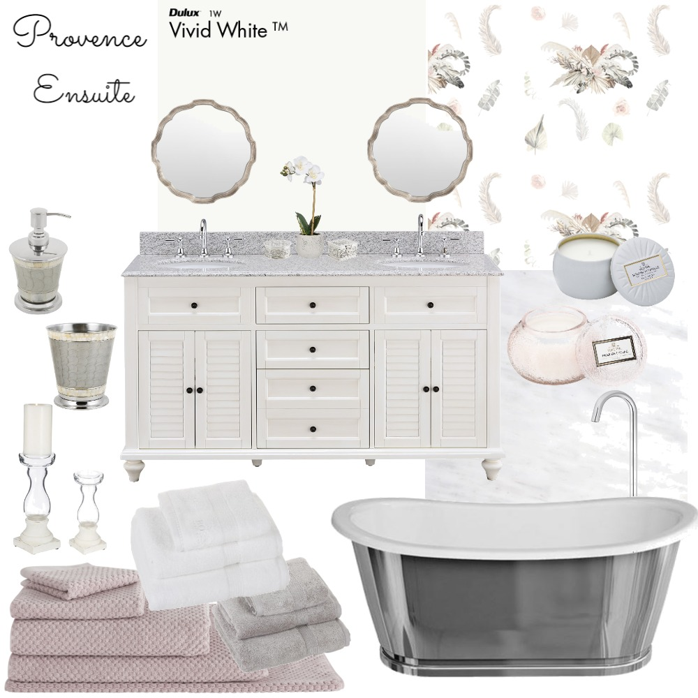 Provence Ensuite Interior Design Mood Board by Jo Laidlow on Style Sourcebook