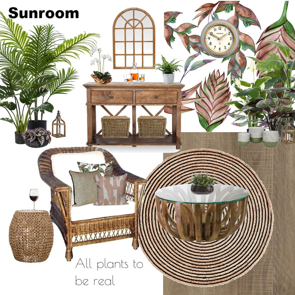 Sunroom Interior Design Mood Board by Jo Laidlow on Style Sourcebook