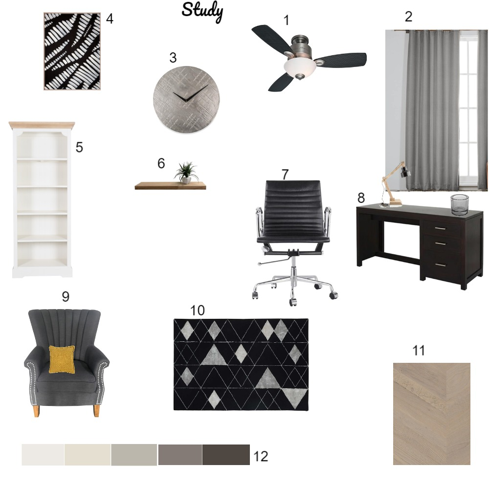 Study Interior Design Mood Board by mashea09 on Style Sourcebook