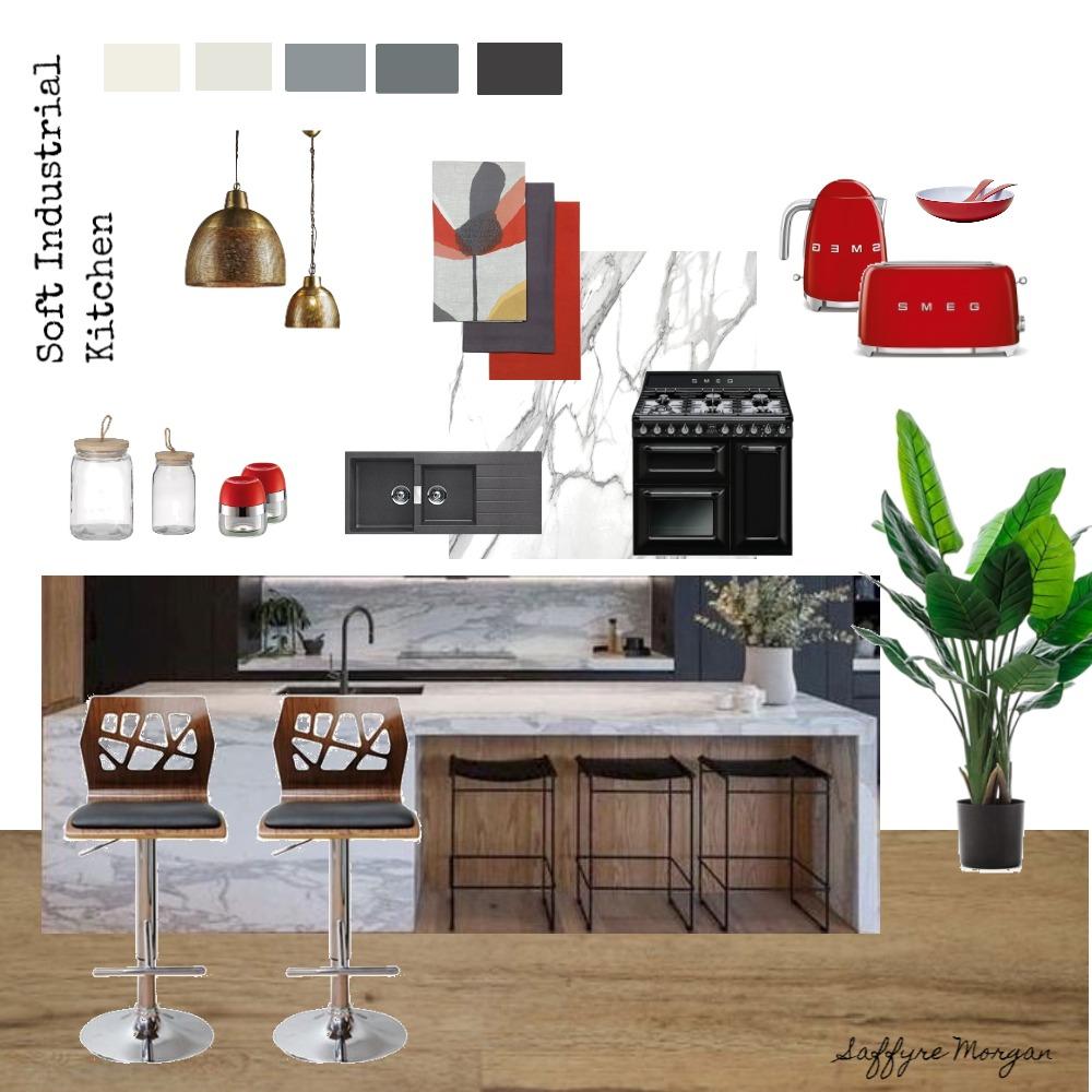 Soft Industrial Kitchen Interior Design Mood Board by SaffyreMorgan on Style Sourcebook
