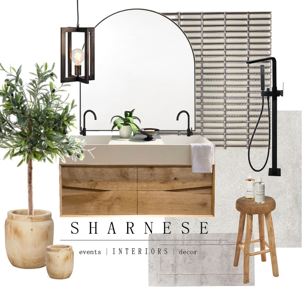 Aussie Bathroom Interior Design Mood Board by Sharnese Interiors on Style Sourcebook