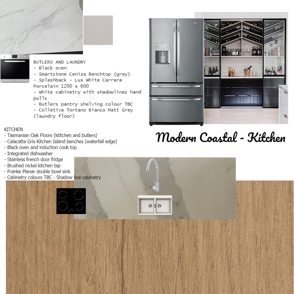 Modern Coastal Kitchen Interior Design Mood Board by akmutton on Style Sourcebook