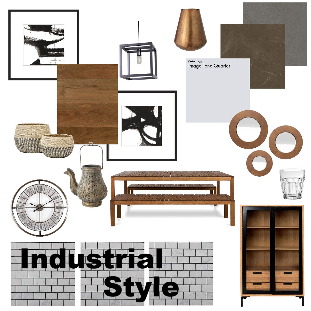 Industrial Interior Design Mood Board by Heather6 on Style Sourcebook