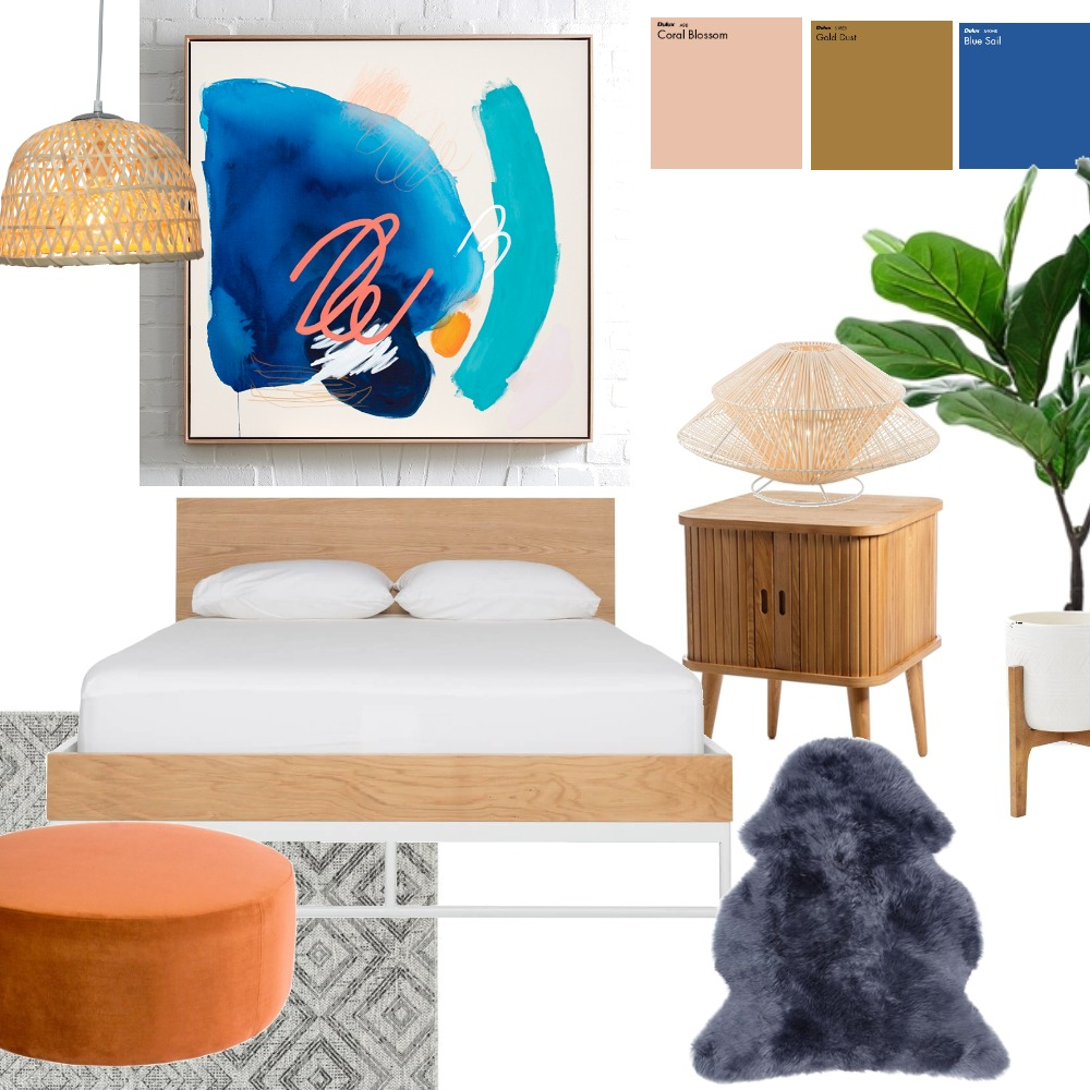 Summery Bedroom Interior Design Mood Board by Jensievers on Style Sourcebook