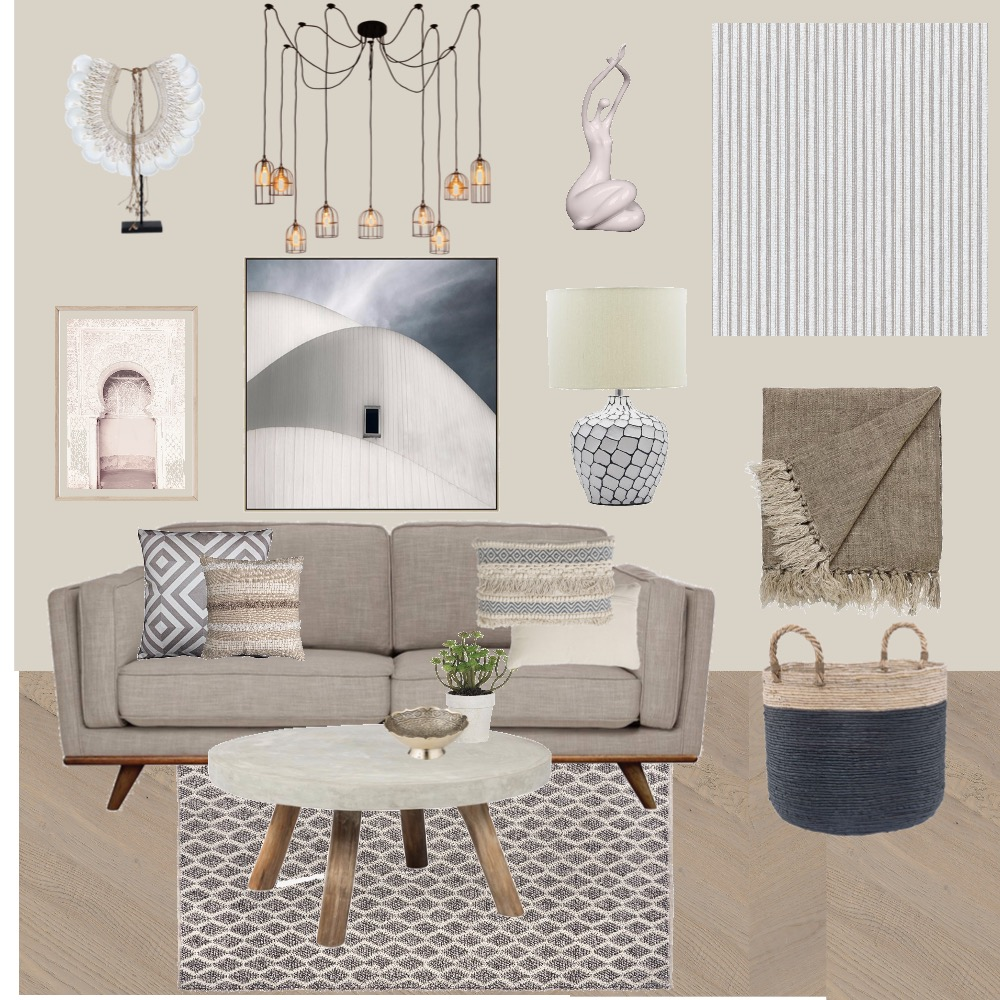 Scandi Chic Living Room Interior Design Mood Board by pross80 on Style Sourcebook