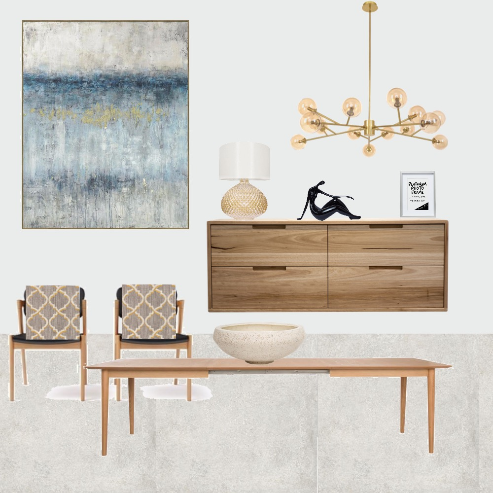 Scandi Chic Dining Room Interior Design Mood Board by pross80 on Style Sourcebook