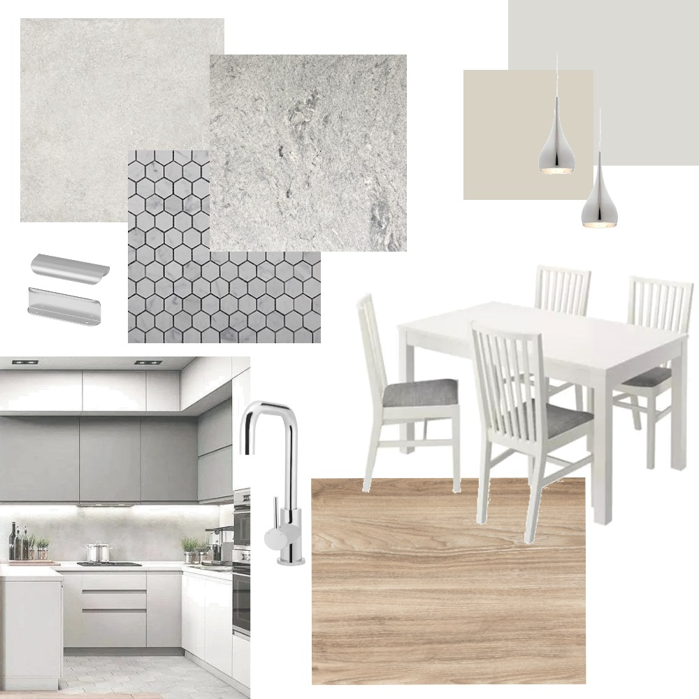 Silver kitchen Interior Design Mood Board by Holi Home on Style Sourcebook