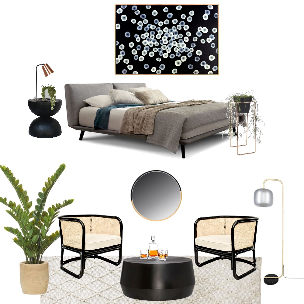 Moody and masculine art lovers Interior Design Mood Board by Simplestyling on Style Sourcebook
