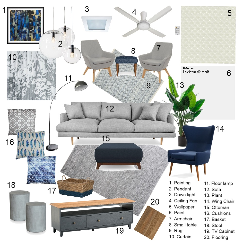 Sample Board Interior Design Mood Board by issyadiq on Style Sourcebook