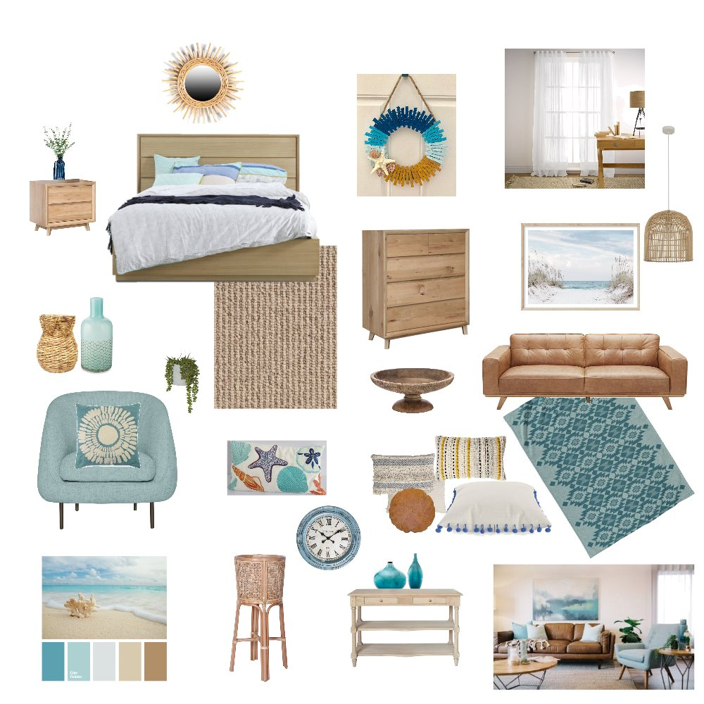 Beach Cottage house Interior Design Mood Board by ANED on Style Sourcebook