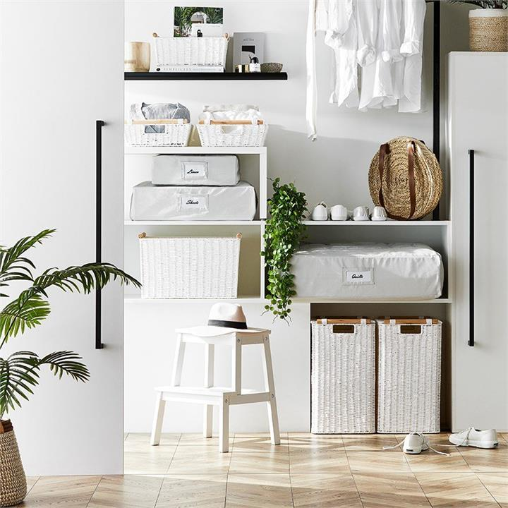 Home Republic Kendrick Basket Laundry  White L42xW30xH52cm By Adairs by Adairs, a Baskets & Boxes for sale on Style Sourcebook