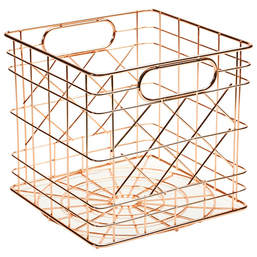 Mini Steel Storage Crate Colour: Copper by Temple & Webster, a Baskets & Boxes for sale on Style Sourcebook