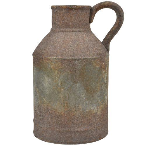 Rust Provence Distressed Stoneware Jar with Handle Size: 41 x 27 x 23cm by Temple & Webster, a Vases & Jars for sale on Style Sourcebook