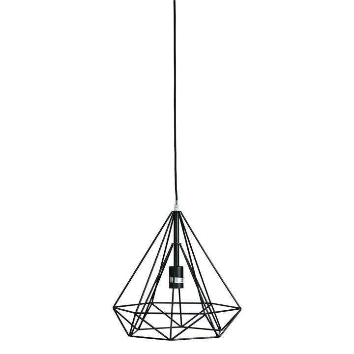 Lenox Metal Wire Pendant Light, Black by Oriel Lighting, a Pendant Lighting for sale on Style Sourcebook