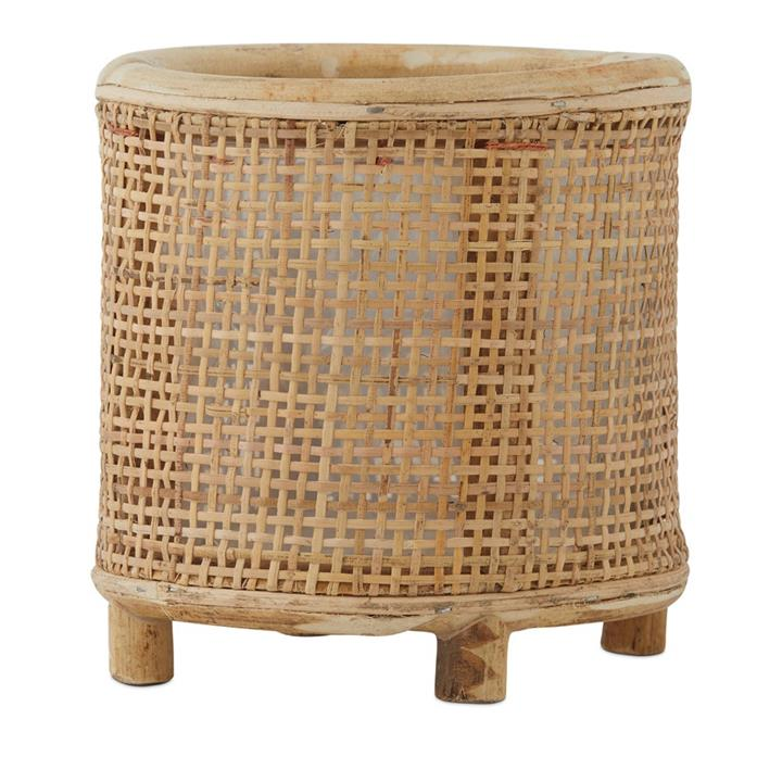 Home Republic Benoa Rattan Pot Dia17xH18cm Natural By Adairs by Adairs, a Baskets, Pots & Window Boxes for sale on Style Sourcebook