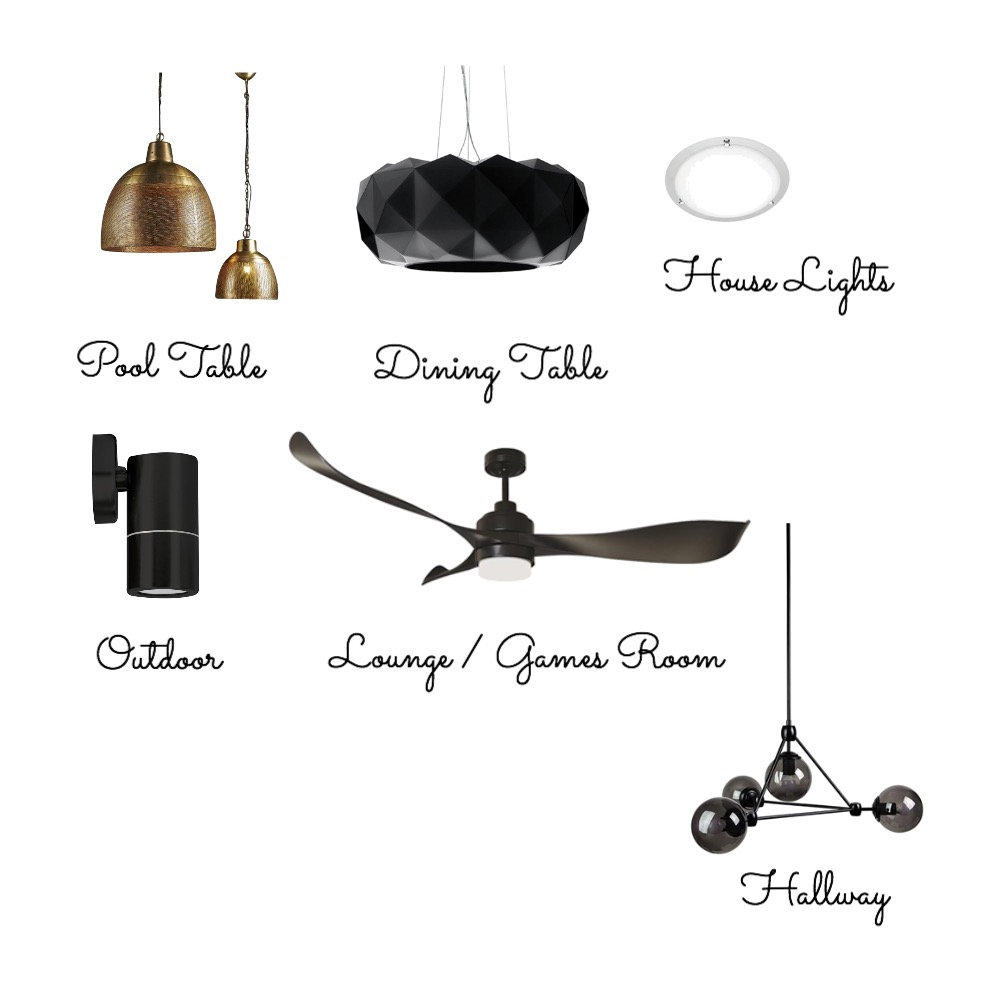 Lighting Interior Design Mood Board by BlueButterfly on Style Sourcebook