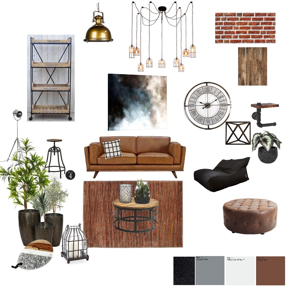 Industrial Interior Design Mood Board by Lwallace on Style Sourcebook