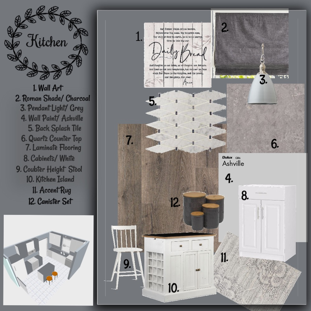 Mom's Kitchen Interior Design Mood Board by maymanley on Style Sourcebook