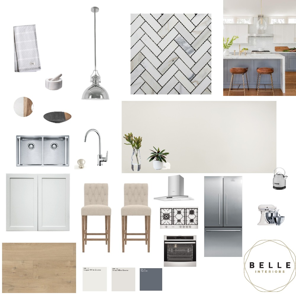 Contemporary Coastal dining Interior Design Mood Board by Belle Interiors on Style Sourcebook
