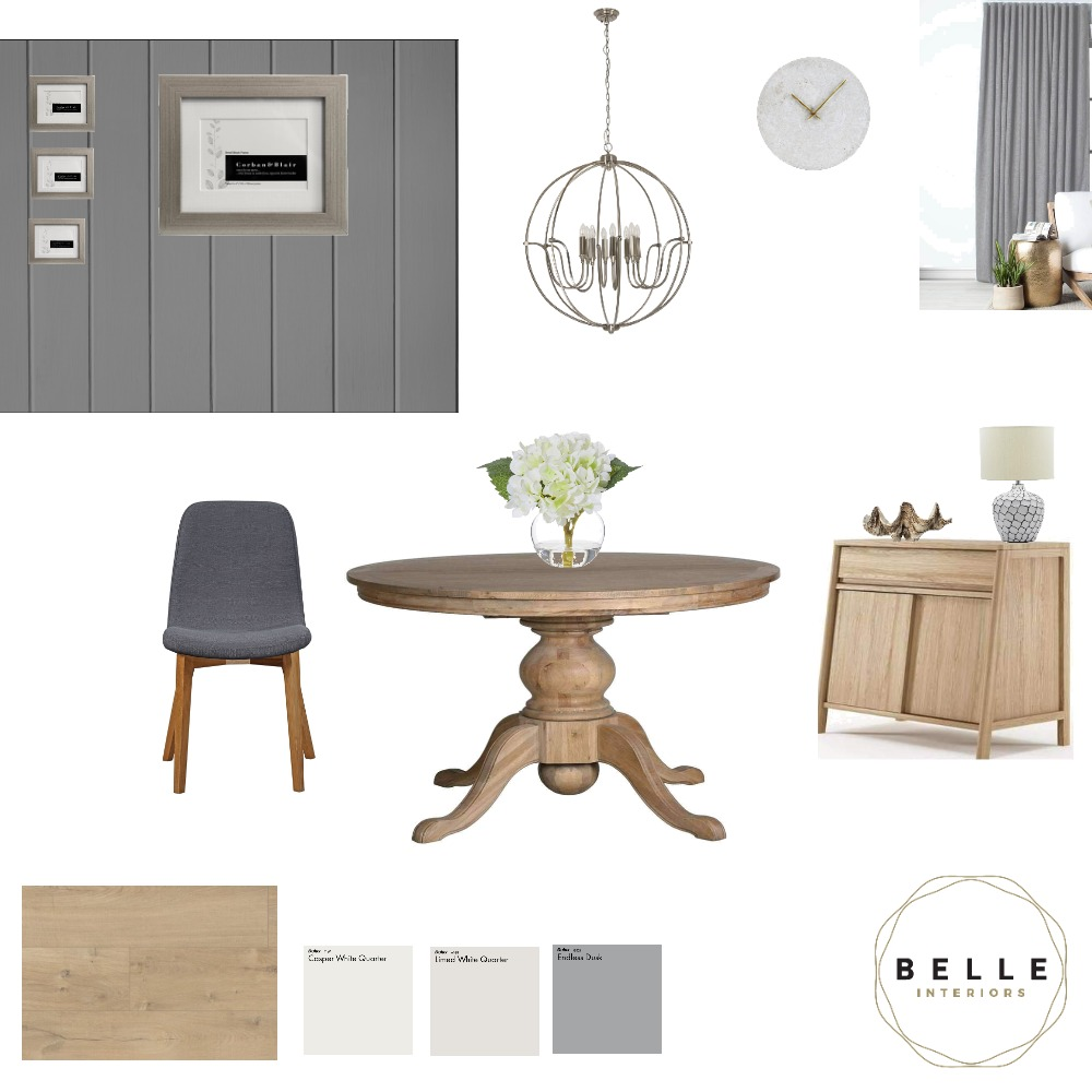 Contemporary- Coastal Dining Interior Design Mood Board by Belle Interiors on Style Sourcebook
