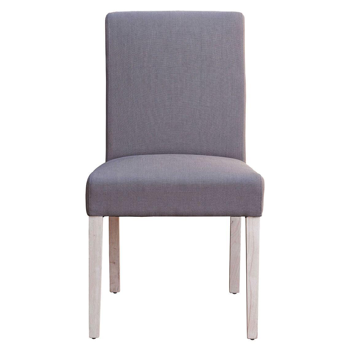 Andes Dining Chair Ella Grey White Wash Leg by Freedom
