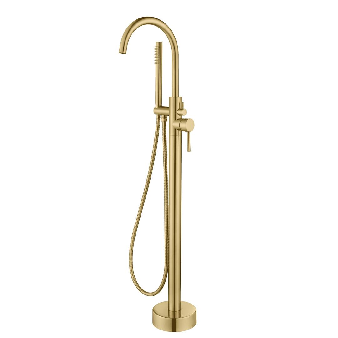 Brass Floor Standing Bath Set Taps