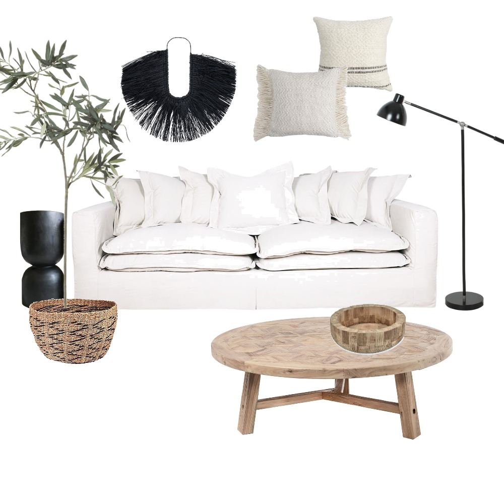 bohemian loungeroom Interior Design Mood Board by Styledbymel on Style Sourcebook
