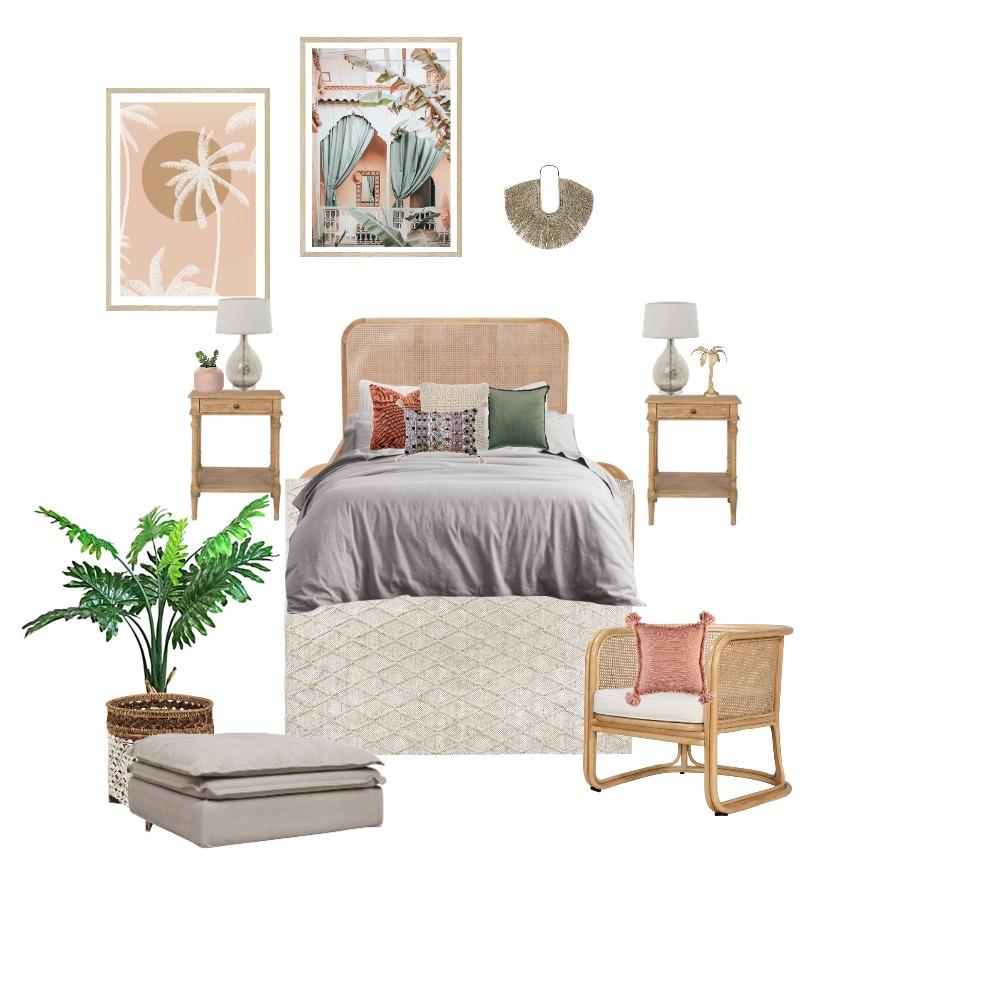 Boho Blush Bedroom Interior Design Mood Board by Lupton Interior Design on Style Sourcebook