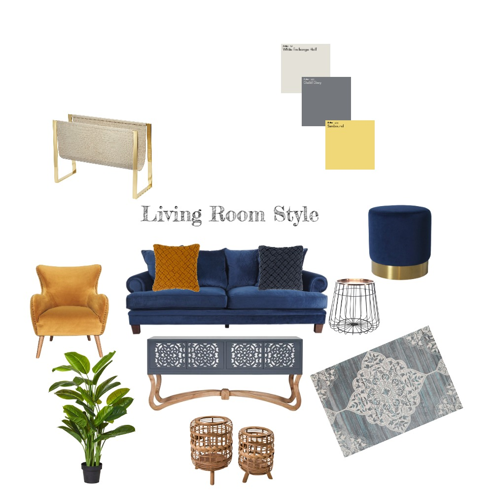 Living Room Style Interior Design Mood Board by leoniemh on Style Sourcebook