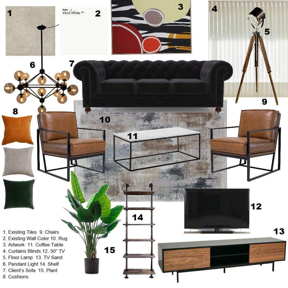 JM Sample Board Interior Design Mood Board by Sofi.baxter on Style Sourcebook