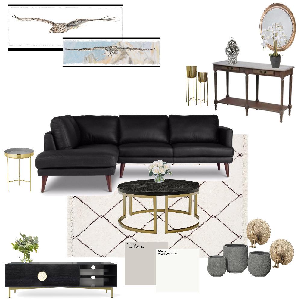 black couch Interior Design Mood Board by sandsmel on Style Sourcebook