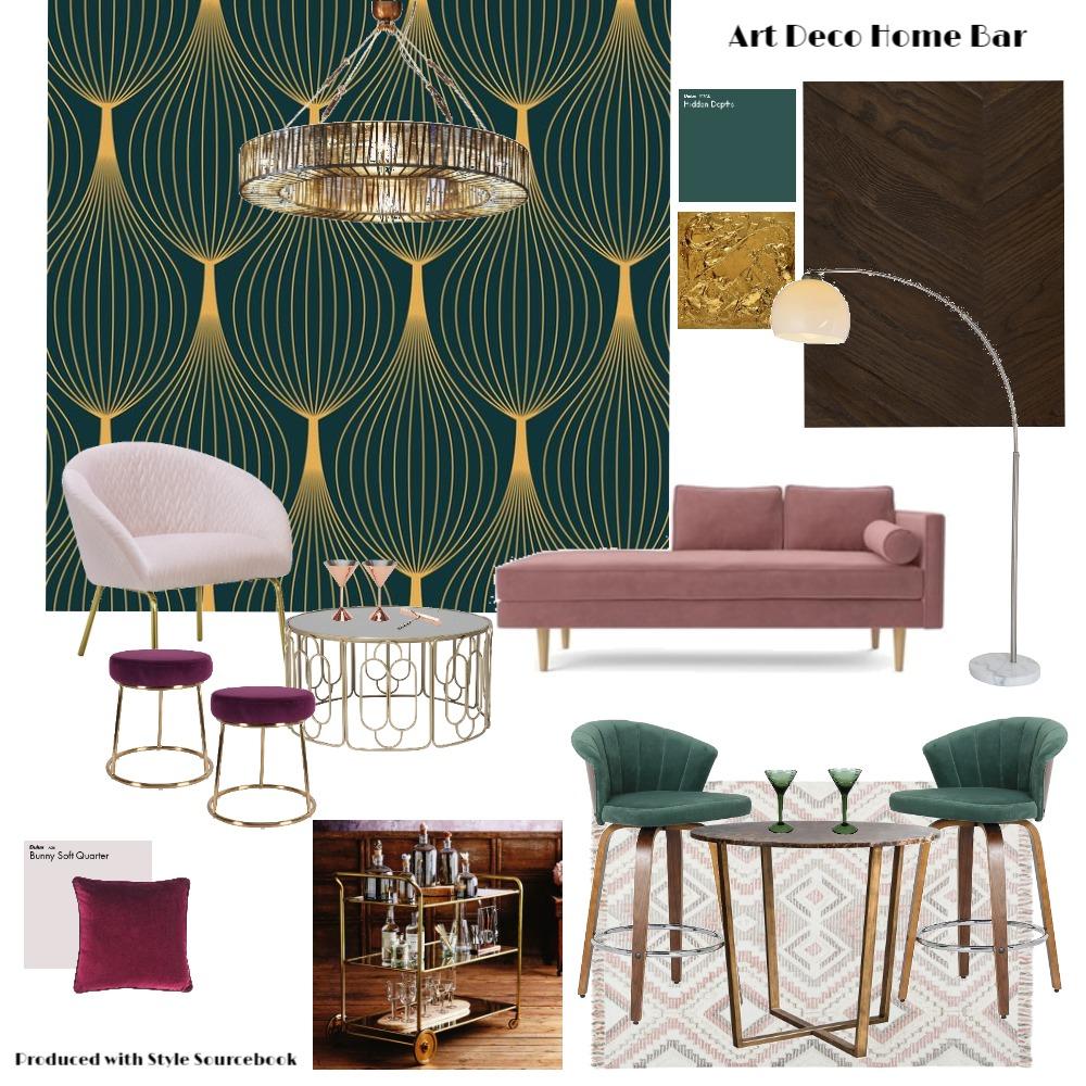 Art Deco Home Bar Interior Design Mood Board by Kim Bongers on Style Sourcebook