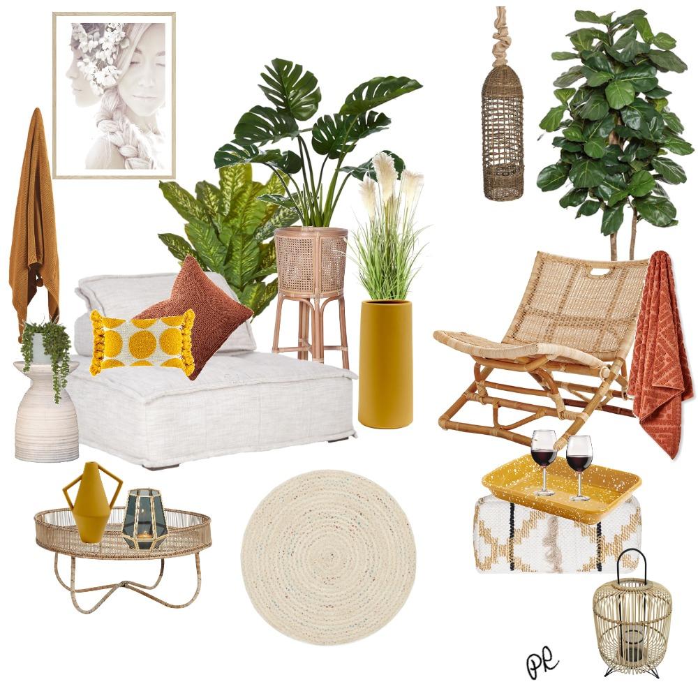 Mustard Balcony Interior Design Mood Board by Polina on Style Sourcebook