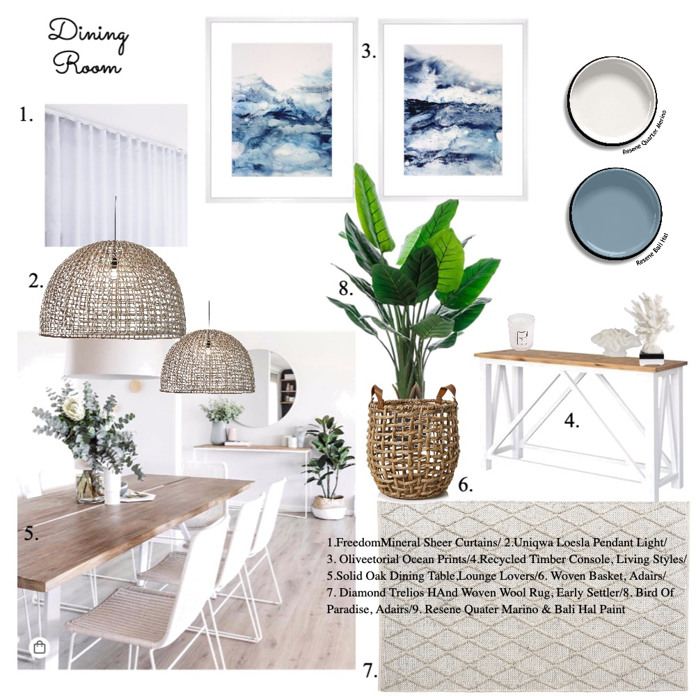 Dining Room Interior Design Mood Board by Tone Design on Style Sourcebook