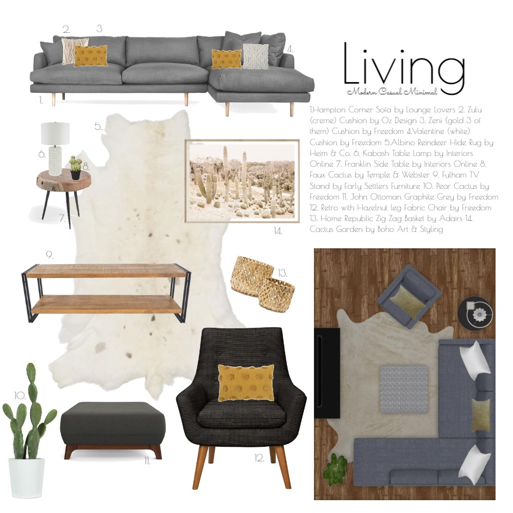 Design School Living Project Interior Design Mood Board by hhardin1 on Style Sourcebook
