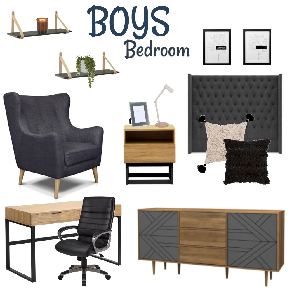 Teen Bedroom Interior Design Mood Board by The Interior Duo on Style Sourcebook