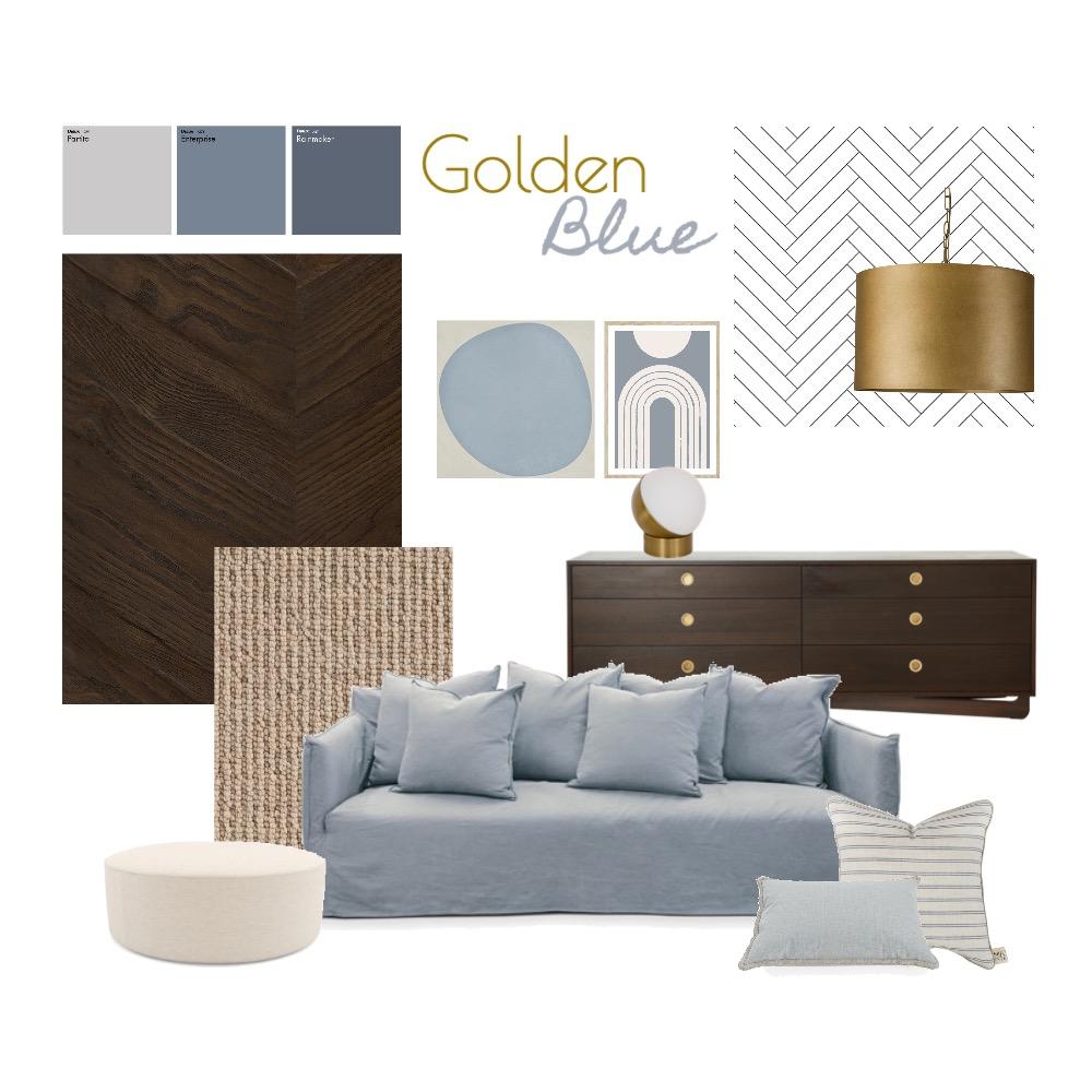 Golden Blue Interior Design Mood Board by ideenreich on Style Sourcebook