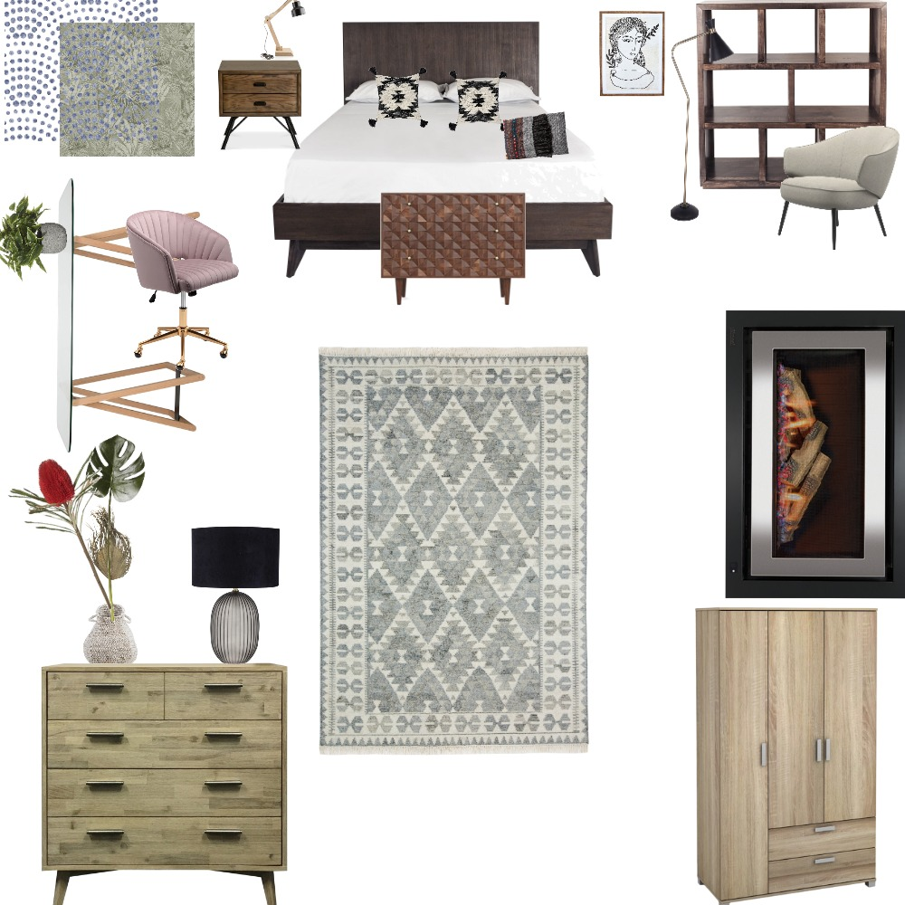DC101 -AS1 Bedroom/ Study Mood Interior Design Mood Board by Silvana on Style Sourcebook