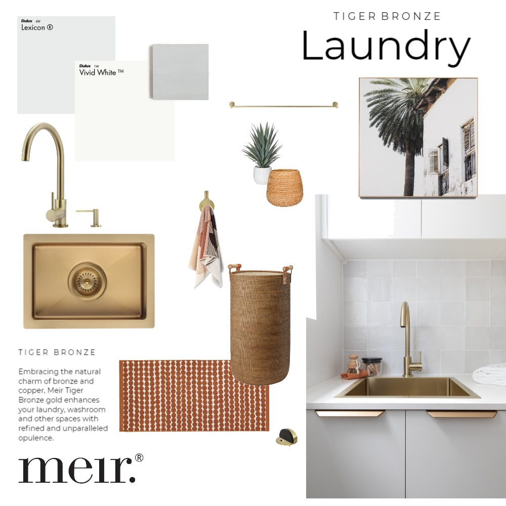 Meir | Tiger Bronze Laundry Mood Board by Meir on Style Sourcebook